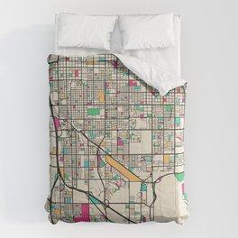 Colorful City Maps: Tucson, Arizona Comforters