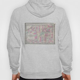 Vintage Map of The Adirondack Mountains (1867) Hoody