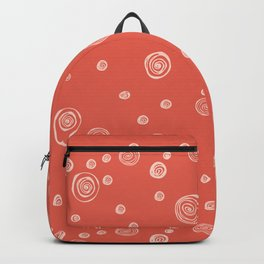 Doodle polka dots - pale red guava Backpack