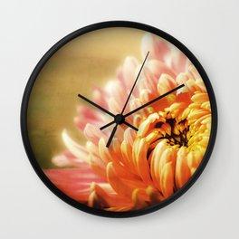 CHRYSANTHEMUM YELLOW Wall Clock