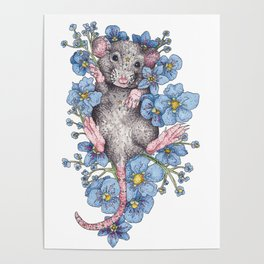 Bed of Flowers Poster