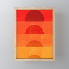 Abstraction_Sunrise Framed Mini Art Print