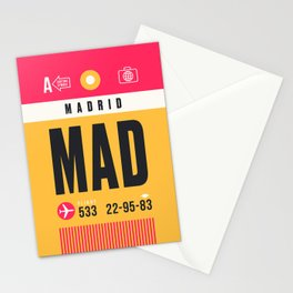 Luggage Tag A - MAD Madrid Barajas Spain Stationery Cards
