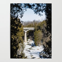 David Street Bridge in Winter Poster