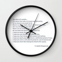 i hope Wall Clock