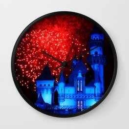 Sleeping Beauty Castle Firework Wall Clock