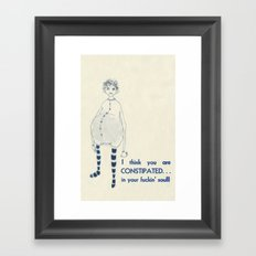 Constipated Soul Framed Art Print