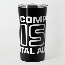 Compact Disk Digital Audio Logo - White Travel Mug