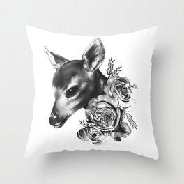 Fawn & Flora II Throw Pillow