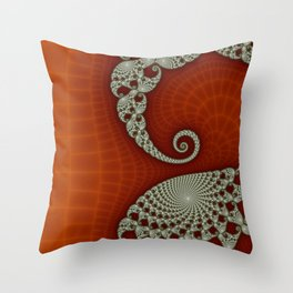 Cresting Lace Wave Throw Pillow