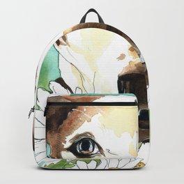 Watercolor Wildflowers & her Bestie Backpack