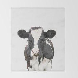 Cow Art Throw Blanket