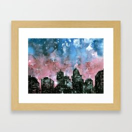 buildings architecture galaxy Framed Art Print