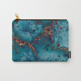 Blue fantasy marble Carry-All Pouch