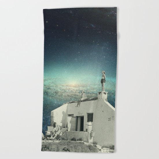We Don't Belong Here Beach Towel
