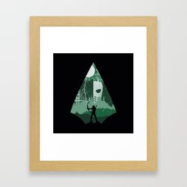 Arrow green Framed Art Print