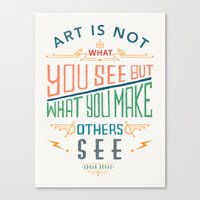 degas Canvas Prints featuring Edgar Degas Quote by Bacht