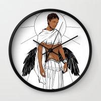 apollo Wall Clocks featuring Apollo by Cassandra Jean