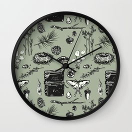 Forest Notes Wall Clock