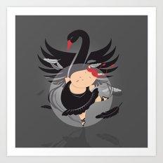 Tifanny - BlackSwan Art Print