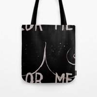 boob Tote Bags featuring Boob Freckles by brittanylongdotcom