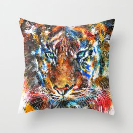 The Sumatran Tiger Throw Pillow