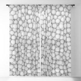 Golf balls Sheer Curtain