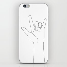 Love Hand Gesture iPhone Skin