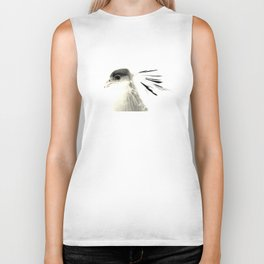 Secretary Bird on White Biker Tank