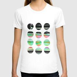 colorful circles pattern design T-shirt