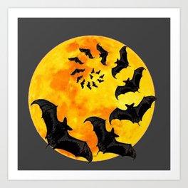 Halloween Bats Art Prints   Society6