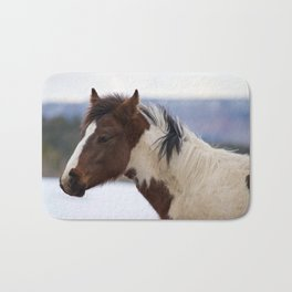 Tri-Colored Horse Bath Mat