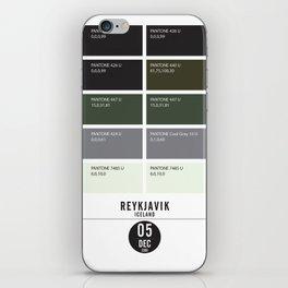 PANTONE glossary - Iceland - Reykjavík iPhone Skin