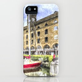 St Katherine's Dock London  Art iPhone Case