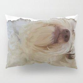 Grumpy Terrier Dog Face Pillow Sham