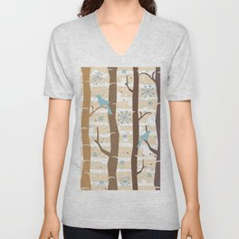 Winter Birds Unisex V-Neck