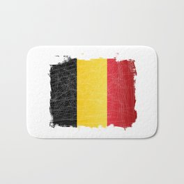 Belgium Flag Grunge Bath Mat