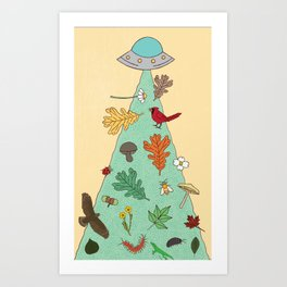 Nature UFO Art Print