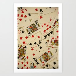 Scattered Playing Cards Texture Photograph Art Print