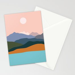 Mountains by the ocean. Stationery Cards
