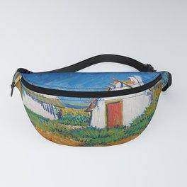 Vincent van Gogh - White cottages at Saintes-Maries (1888) Fanny Pack