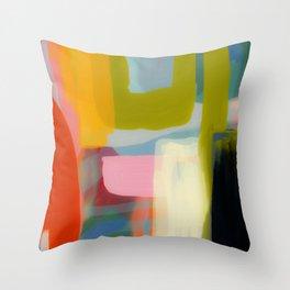 Color study 1 abstract art Throw Pillow