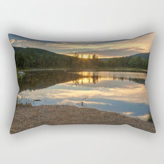 Lily Pond Sunset Rectangular Pillow