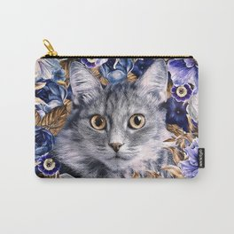 Cat in Flowers. Autumn Carry-All Pouch