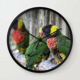 Lorikeet on a Limb Wall Clock
