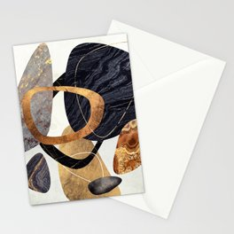 Abstract Pebbles III Stationery Cards