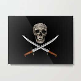 A Pirate's Blades Metal Print