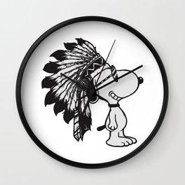 Indiana snoopy Wall Clock