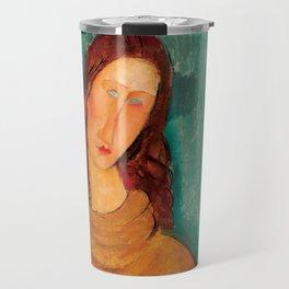 "Amedeo Modigliani ""Jeanne Hebuterne in a Yellow Jumper"" Travel Mug"
