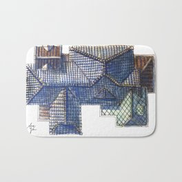 Taiwanese roofscapes 02 Bath Mat